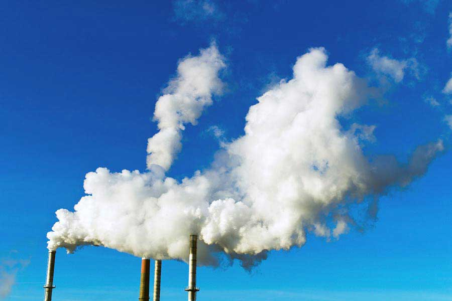 Midland & Kwinana Air Quality Studies: Two smoke stacks release particulants
